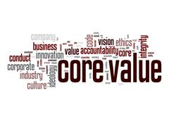 Core value word cloud Stock Illustration