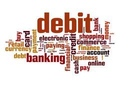 debit word cloud - stock illustration