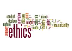 ethics word cloud - stock illustration