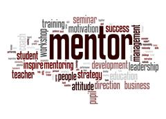 mentor word cloud - stock illustration