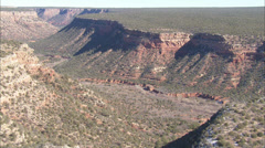 Desert Canyons Shrubs Stock Footage