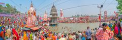 Main Bathing Ghat in Haridwar Stock Photos