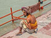 Stock Photo of Pilgrim in Haridwar