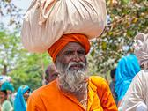 Stock Photo of Sadhu pilgrim in Haridwar