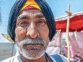 Stock Photo of Pilgrim portrait at Kumbh Mela