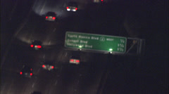 Freeway sign night Stock Footage