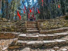 Himalayan little shrine Stock Photos