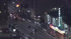 Hollywood street cars Stock Footage