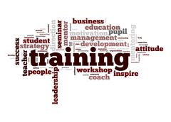Stock Illustration of training word cloud