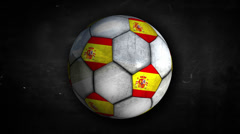 Spain Ball Rotation Looping Alpha Matte 4k resolution ultra HD Stock Footage
