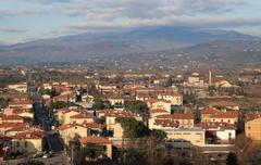 Arezzo overview Stock Photos