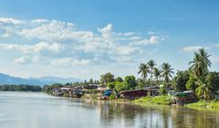 communities living along the ping river - stock photo