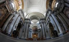 interior santa maria in campitelli church in rome - stock photo