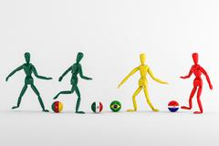 World cup group a Stock Illustration