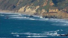 Aerial Coastal Footage Stock Footage