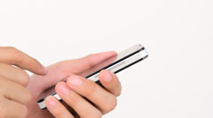 Use Smart Phone Side View Stock Footage