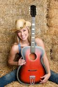 Maan kitara tyttö Kuvituskuvat