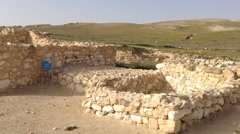 Canaanite Temple at Arad, the Biblical City, Holy Land, Israel Stock Footage