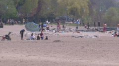 Toronto eastern beaches on a hot summer day Stock Footage