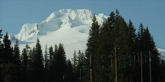 Red Epic - Mt.Hood Oregon volcano ski resort 2 Stock Footage