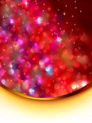 Stock Illustration of Glitter holiday card template. EPS 8