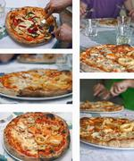 pizza composition - stock photo