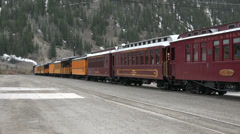 Durango Silverton heritage coal fired steam engine railroad HD 154 Stock Footage