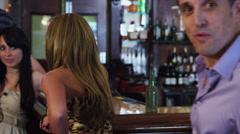 Funny bar scene - stock footage