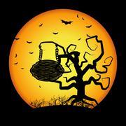 Halloween background - stock illustration