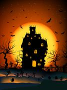 Haunted House Stock Illustration