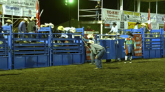 Shrine rodeo bull riding Stock Footage