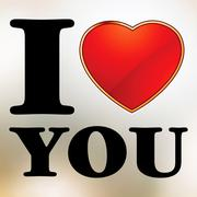 I love you valentine card template. EPS 8 Stock Illustration