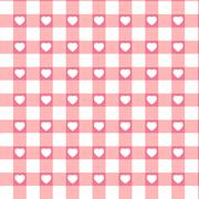 Swatch ready seamless Hearts & Gingham. EPS 8 Stock Illustration