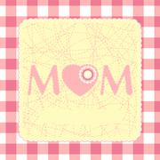 80s Style Mothers Day Card. EPS 8 Stock Illustration