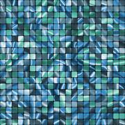 Seamless Blue Tiles swatch ready pattern. EPS 8 - stock illustration