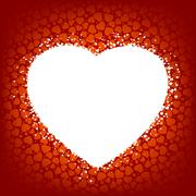 Love vector background made from red hearts. EPS 8 Stock Illustration