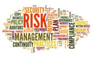 Stock Illustration of risk and compliance in word tag cloud