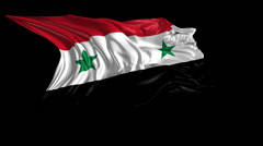 Flag of Syria Stock Footage
