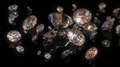 4k beautiful diamonds background - stock footage