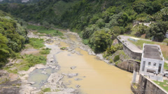 Dos Bocas dam and hydroelectric plant. 4 of 4 Stock Footage