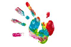 Colorful hand painted isolated Stock Photos