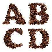 coffee alphabet letter - stock photo