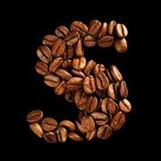 Coffee alphabet letter Stock Photos