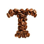 coffee alphabet letter - stock photo