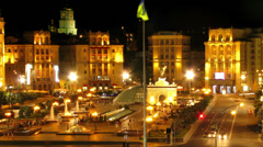 Kiev.Ukraine. Independence Square. Stock Footage