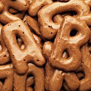 cookie alphabet background - stock photo