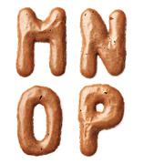 cookie alphabet letter - stock photo