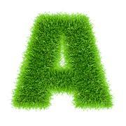 Letter of grass alphabet Stock Photos