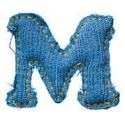 Handmade letter of jeans alphabet Stock Photos