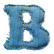 Handmade letter of jeans alphabet Stock Photos